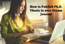 How to Publish Ph.D. Thesis in your Dream Journal