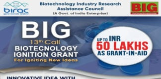 BIRAC Biotechnology Ignition Grant