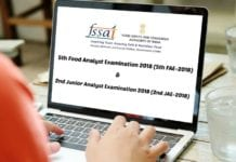 FSSAI Food Analyst Examination 2018