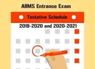 AIIMS Entrance Exam 2019 - Tentative Schedule