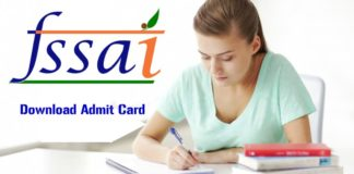 Download Admit Card For FSSAI FAE & JAE Exam 2018