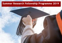 Science Academies' Summer Research Fellowship Programme 2019