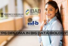 Applications Invited - DBT Funded PG Diploma in Big Data Biology