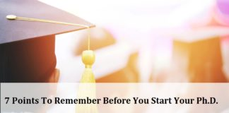 7 Points To Remember Before You Start Your Ph.D.