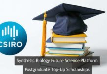 CSIRO SynBio FSP Postgraduate Top-Up Scholarships @ Australia