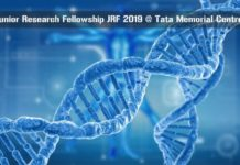 Junior Research Fellowship JRF 2019 @ Tata Memorial Centre
