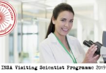 INSA Visiting Scientist Programme 2019