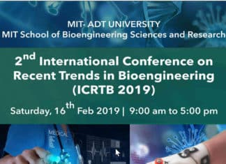 International Conference on Recent Trends in Bioengineering (ICRTB 2019)