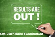 Results:ARS-2017 (Agricultural Scientists Recruitment Board) Mains Exam