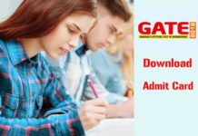GATE 2019 Admit Card Download