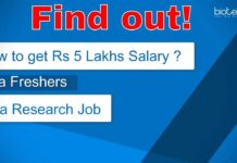 Freshers Research Job