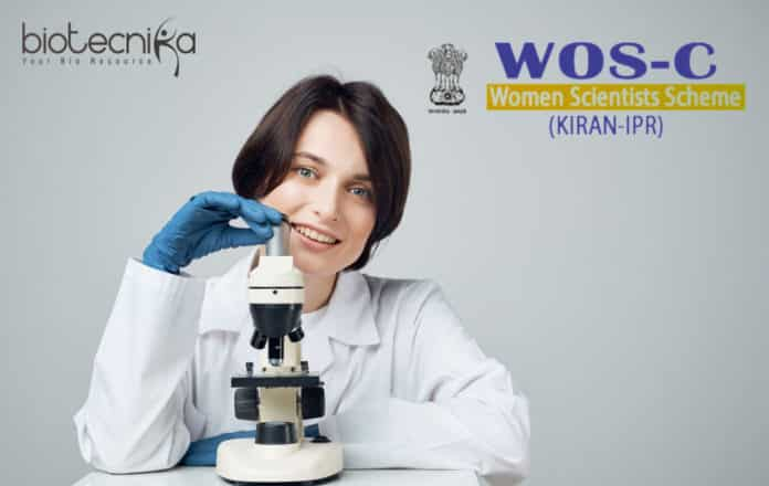 DST - Women Scientists Scheme-C (WOS-C) 2019