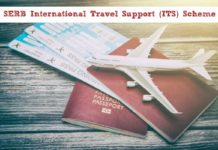 SERB International Travel Support Scheme