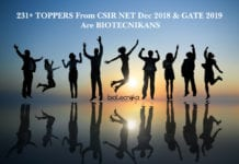 231+ CSIR NET Dec 2018 & GATE 2019 Toppers Are From Biotecnika