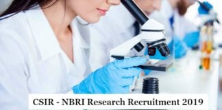 CSIR-NBRI Research Careers 2019