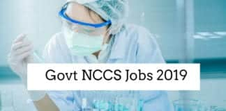 NCCS Pune Current Jobs 2019