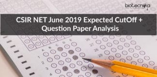 CSIR NET Expected CutOff For June 2019 Exam + Question Paper Analysis