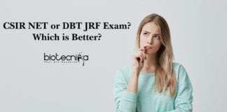 CSIR or DBT-BET JRF Exam: Which is better?