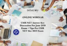 CSIR NET Answer Key Discussion For June 2019 Exam + Tips For CSIR NET Dec 2019 Exam