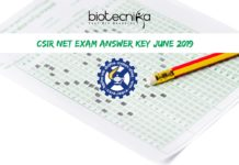 CSIR-NET Exam Answer Key