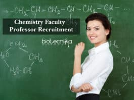Chemistry Faculty / Professor Recruitment @ Biotecnika