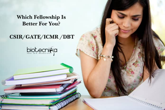 Which Fellowship Is Better For You? - CSIR / GATE / ICMR / DBT