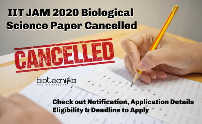 IIT JAM 2020 Official Notification