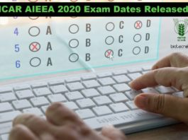 ICAR AIEEA 2020 Exam Dates Released