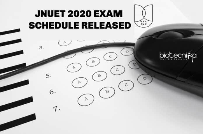 JNUET 2020 Exam Schedule Released