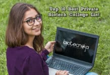 Top 10 Best Private Biotech College / Institutes List