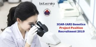ICAR-IARI Genetics Project Position