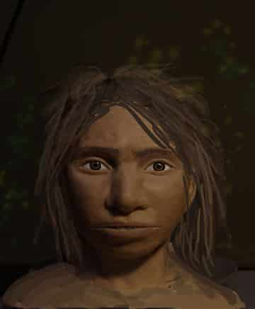 Portrait of Denisovan girl