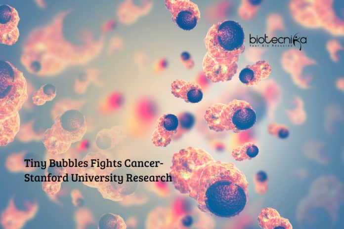 Tiny Bubbles Fights Cancer