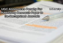 UGC Announces Penalty For Publishing Research Paper In De-Recognised Journals