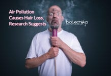 air pollution causes hair-loss