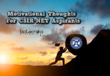 Motivational Thoughts For CSIR NET Aspirants