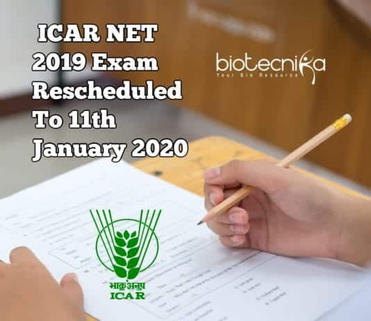 ICAR NET 2019 Exam