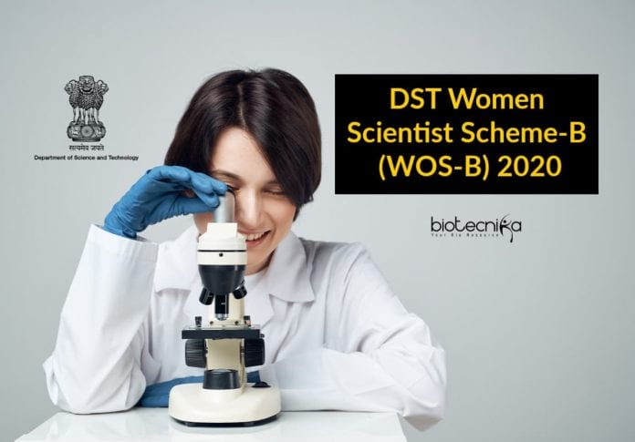 DST Women Scientist Scheme-B