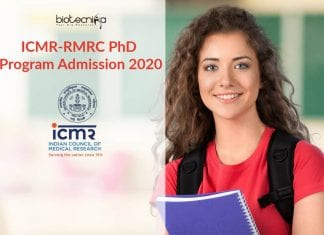 ICMR-RMRC PhD Program Admission