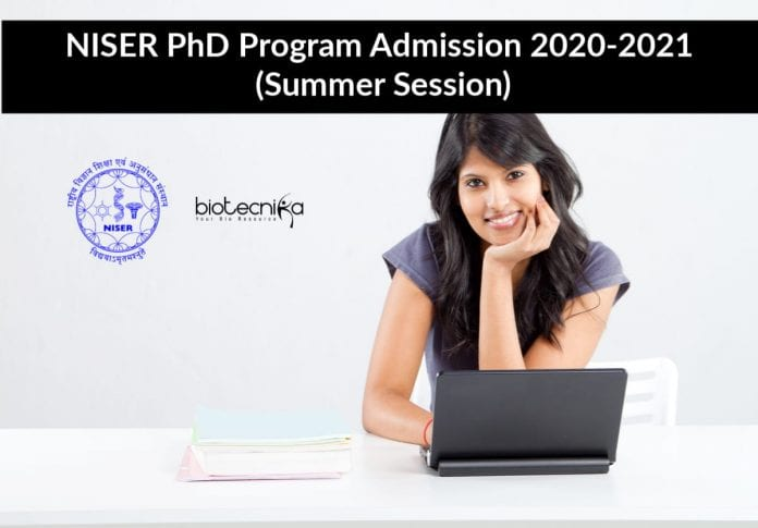 NISER PhD Program Admission