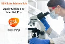 GSK Life Science Job