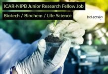 ICAR-NIPB Junior Research Fellow