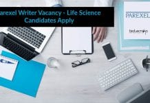 Parexel Writer Vacancy