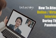 tips to attend online interview