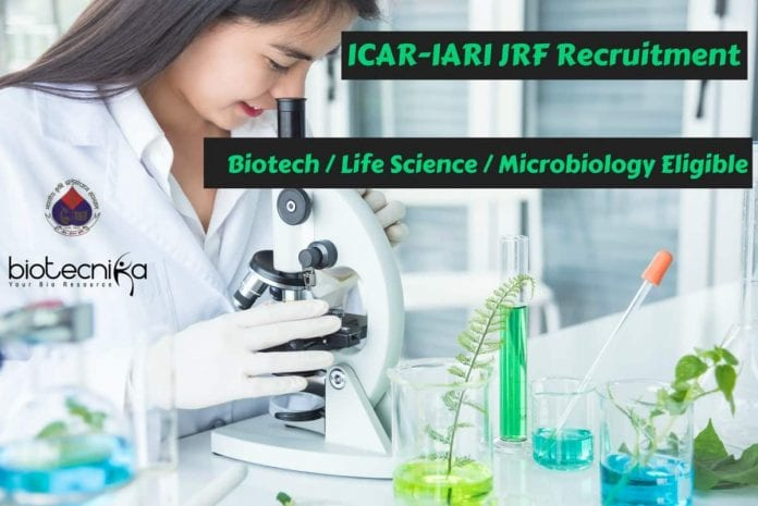 ICAR-IARI JRF Recruitment