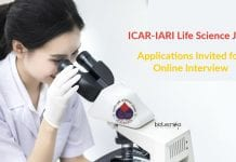 ICAR-IARI Life Science Job