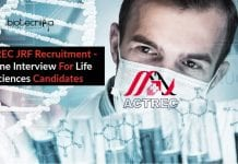 ACTREC JRF Recruitment