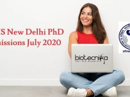 AIIMS New Delhi PhD