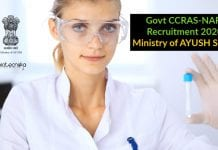 Govt CCRAS-NARIP Recruitment 2020