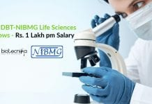 Govt DBT-NIBMG Life Sciences Fellows